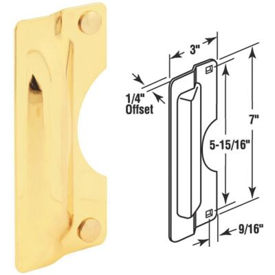 Defender Security 3 In. x 7 In. Polished Brass Latch Guard