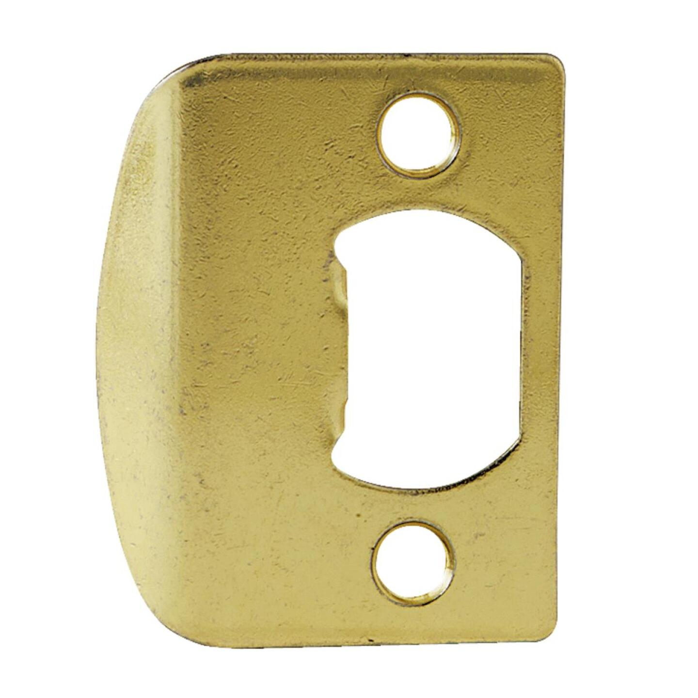 Kwikset Polished Brass 1-3/4 In. Full Lip Strike Plate Image 1