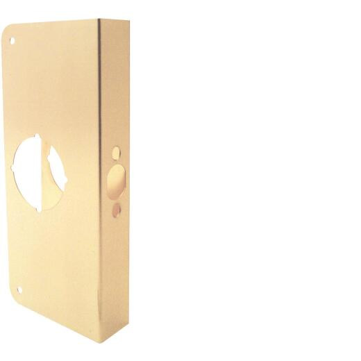 Defender Security 1-3/4 In. x 2-3/4 In. Brass Door Reinforcer