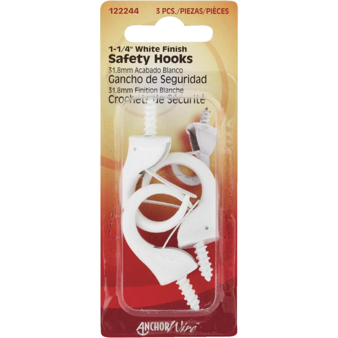 Hillman Anchor Wire 1-1/4 In. White Safety Hook Image 1
