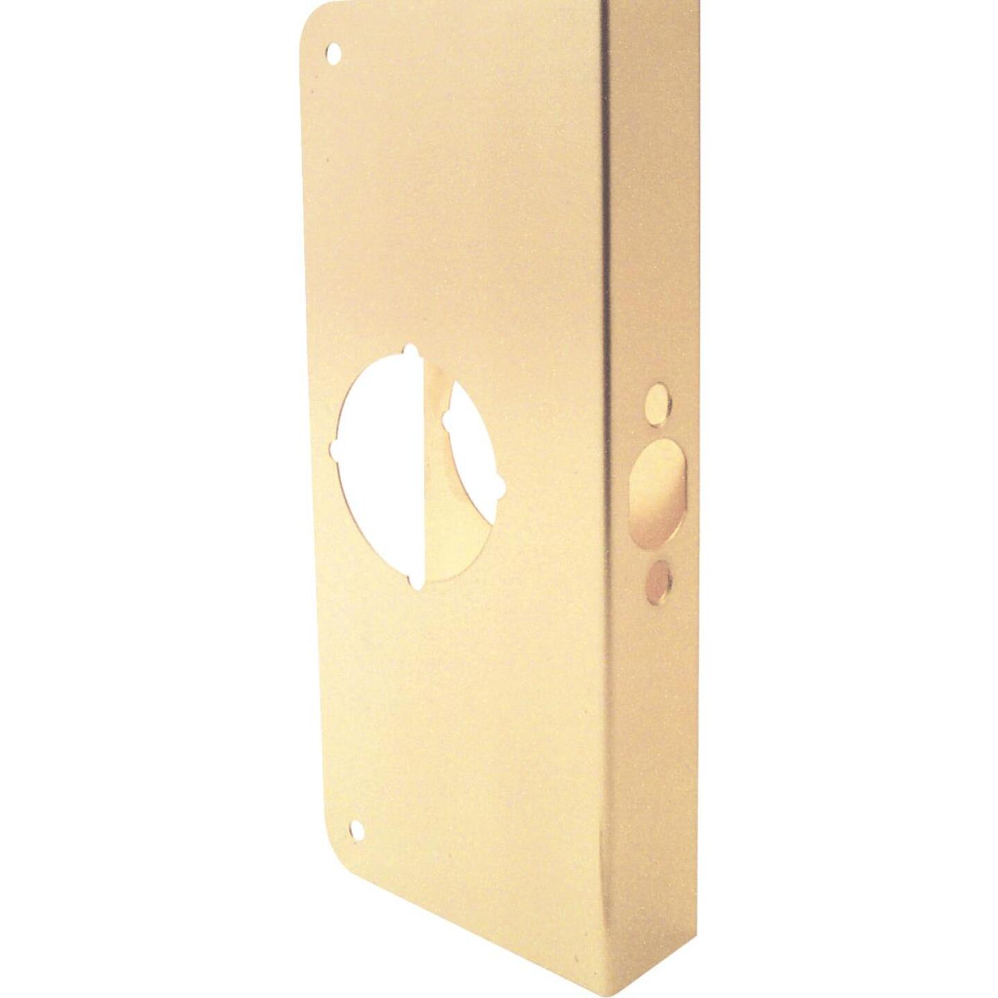 Defender Security 1-3/8 In. x 2-3/8 In. Brass Door Reinforcer Image 2