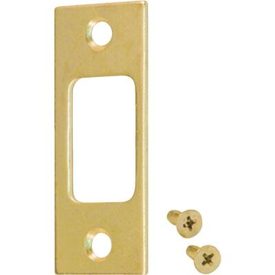 Kwikset Polished Brass 1 In. Deadbolt Strike Plate