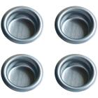 Johnson Hardware 3/4 In. Dia. Satin Nickel Flush Cup Pocket Door Pull (4-Count) Image 1