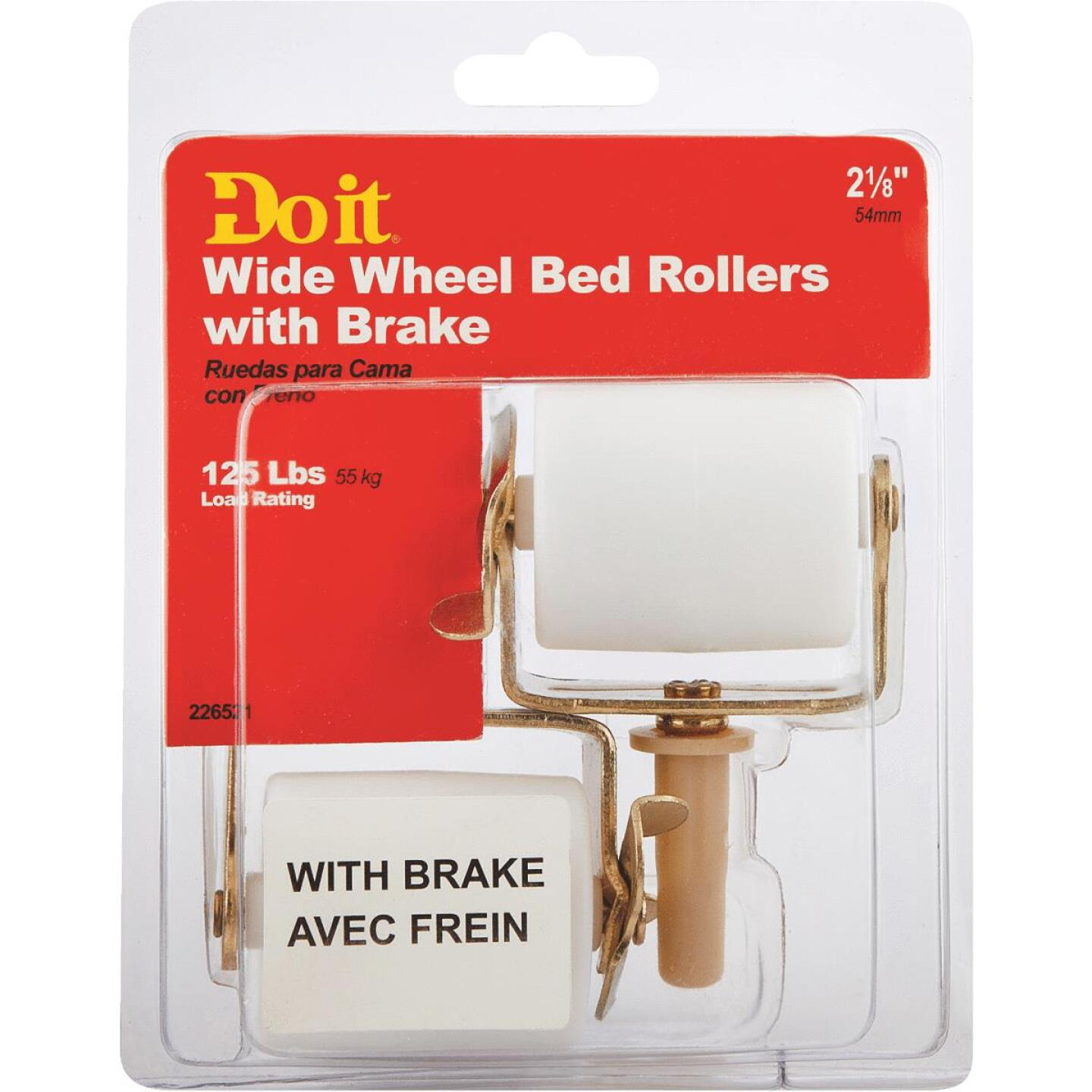 Do it 2-1/8 In. Plastic Bed Stem Caster with Brake (2-Pack) Image 2