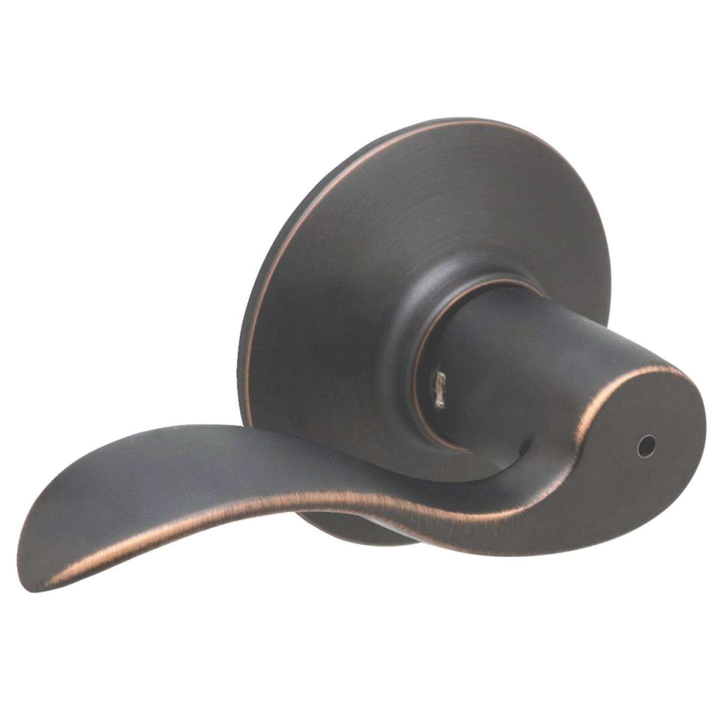 Schlage Aged Bronze Accent Privacy Door Lever  Image 1