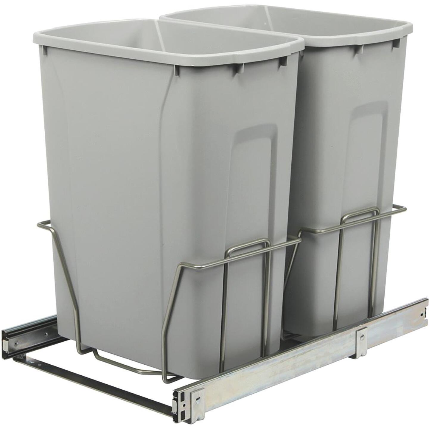 Knape & Vogt Real Solutions 29 Qt. In-Cabinet Double Pull Out Bottom Mount Trash Can Image 1