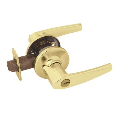 Kwikset Polished Brass Delta Entry Door Lever