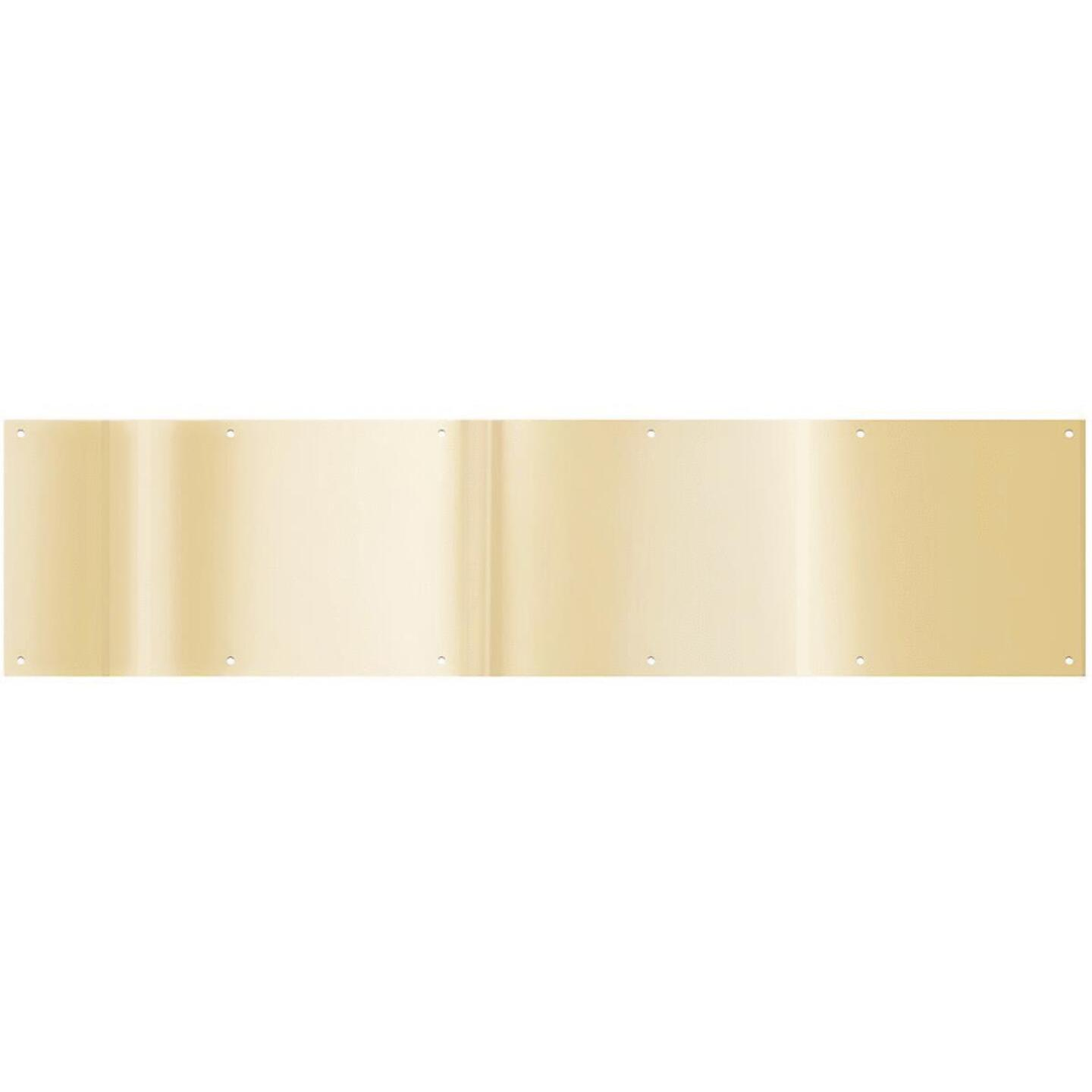 National 8 In. x 34 In. Brass Aluminum Kickplate Image 1