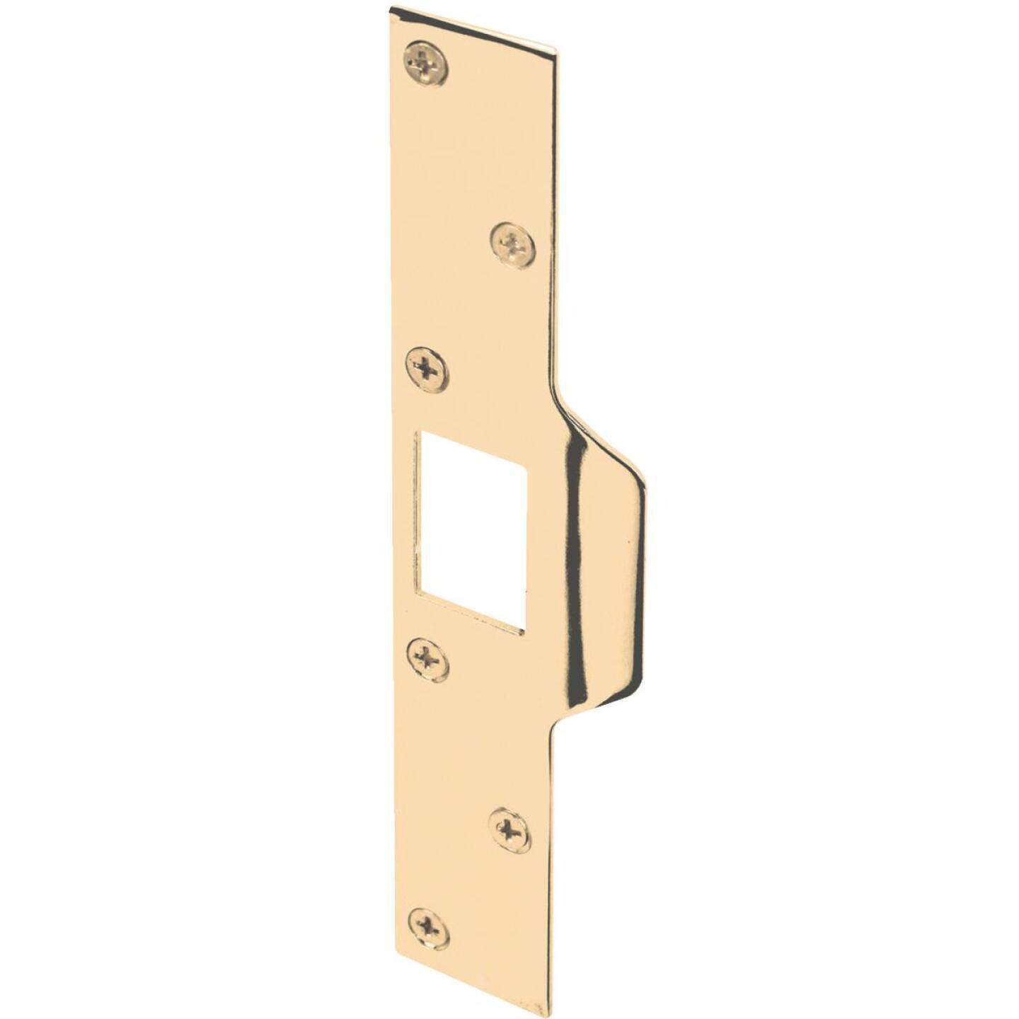 Defender Security Polished Brass 1-1/4 In. Lip Security Strike Plate Image 1