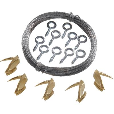 Hillman Anchor Wire 15 Lb. Capacity Wallbiter Picture Hanging Kit