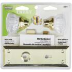 Defender Security Brass Keyed Mortise Entry Lock Set With Glass Knob Image 2