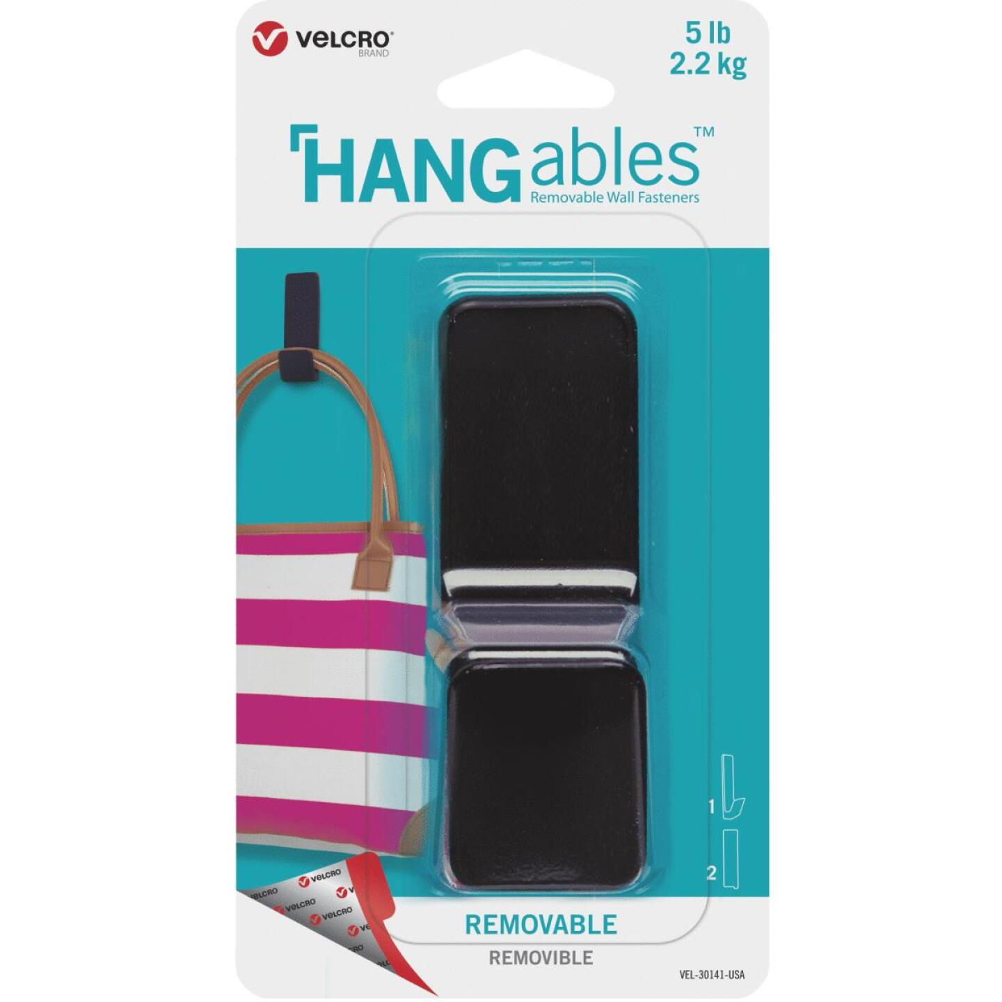 Velcro Brand Hangables 5 Lb. Capacity Black Removable Large Hook Image 1