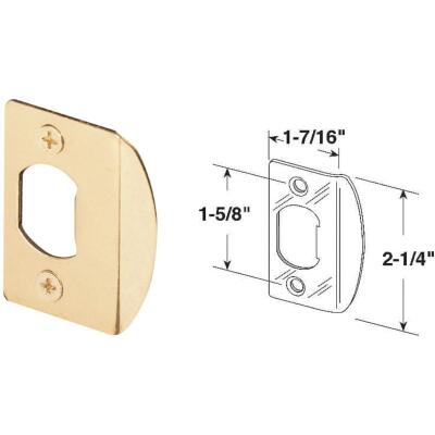 Defender Security Brass 1-3/4 In. Lip Strike Plate