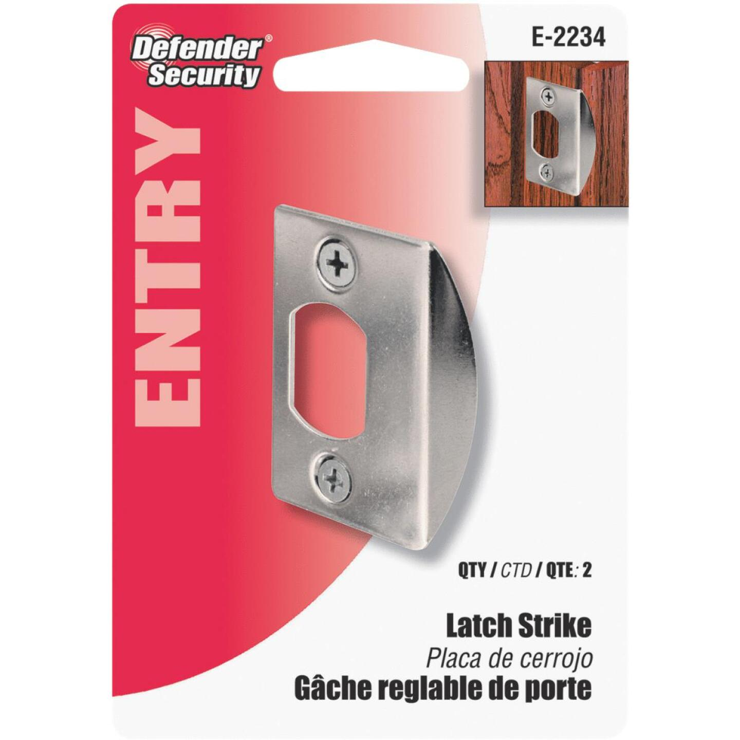 Defender Security Chrome 1-3/4 In. Lip Strike Plate Image 3