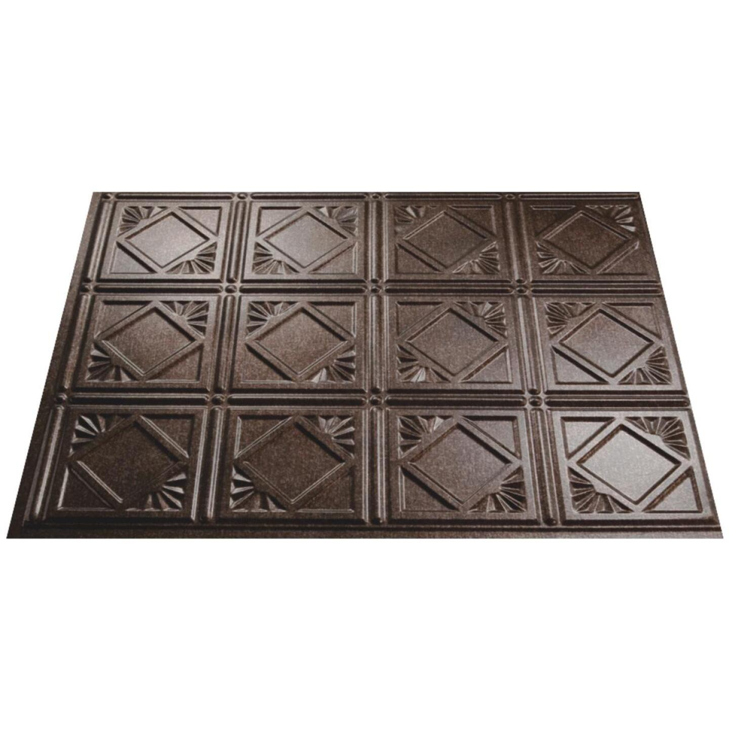 Fasade 18 In. x 24 In. Thermoplastic Backsplash Panel, Smoked Pewter Traditional 4 Image 1