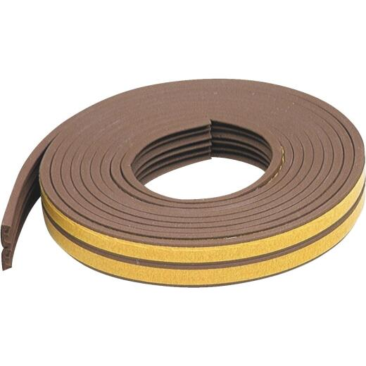 """M-D Brown 17' 3/8""""  Extreme Temp Small Gap Rubber Weatherstrip, Brown"""