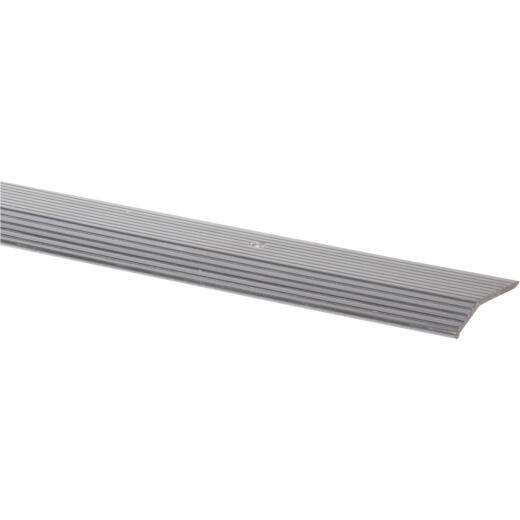 Do it Satin Silver Fluted 1-3/8 In. x 3 Ft. Aluminum Carpet Trim Bar, Wide