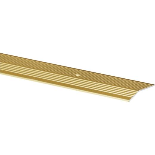 Do it Satin Gold Fluted 2 In. x 6 Ft. Aluminum Carpet Trim Bar, Extra Wide