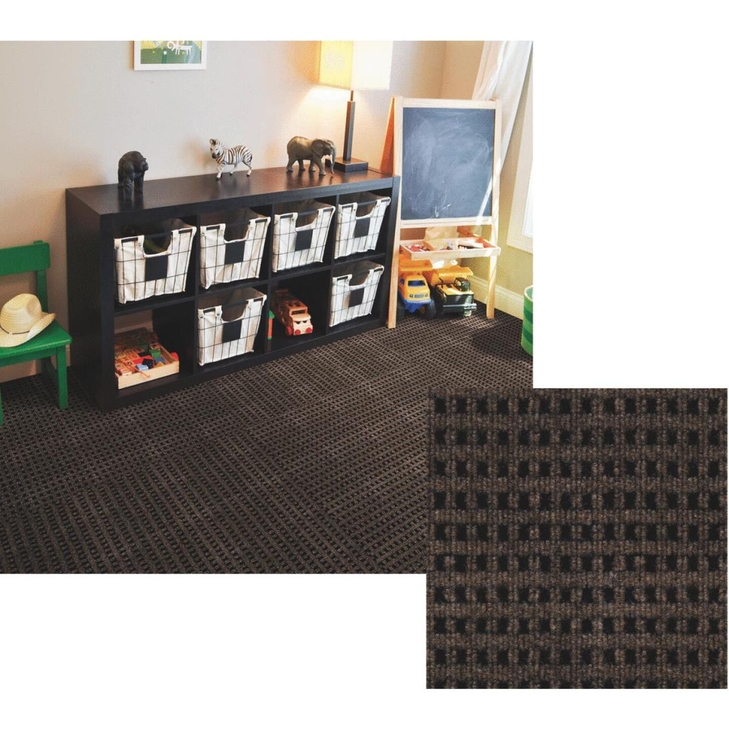 Smart Transformations 24 In. x 24 In. Espresso Mosaic Carpet Tile (15-Pack) Image 1