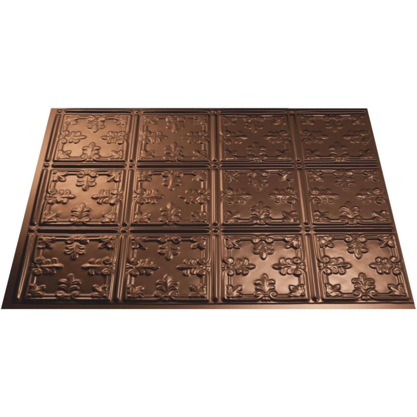 Fasade 18 In. x 24 In. Thermoplastic Backsplash Panel, Oil-Rubbed Bronze Traditional 10 Image 1