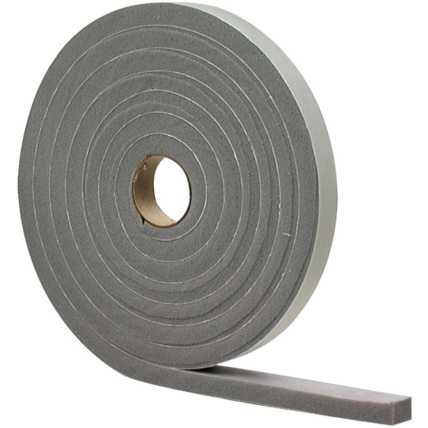 "M-D 1/2"" W x 1/4"" T x 17' L Gray Foam Closed Cell Weatherstrip Tape Image 2"