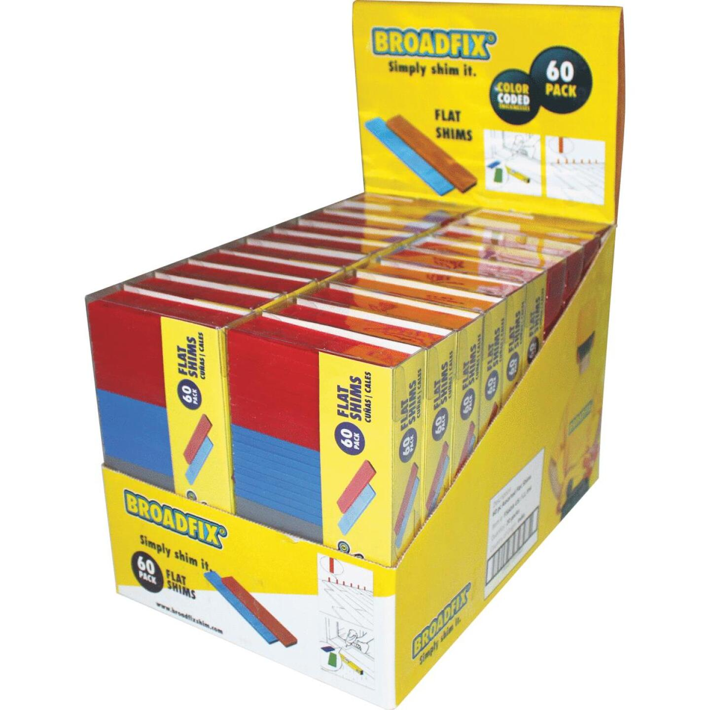 Broadfix 4 In. L Flat Polypropylene Shim, Assorted Thicknesses (60-Count) Image 1