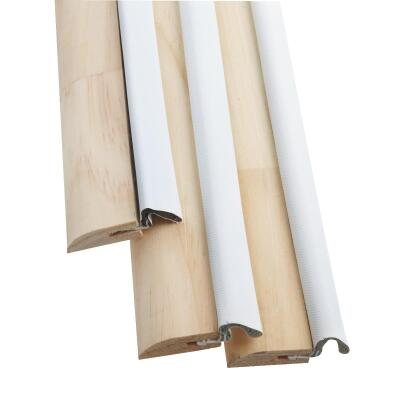 Frost King 1-1/2 In. x 17 Ft. White Nail-on Door Weatherstrip