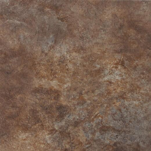 Mohawk Ovations Brown 14 In. Square DuraCeramic Floor Tile