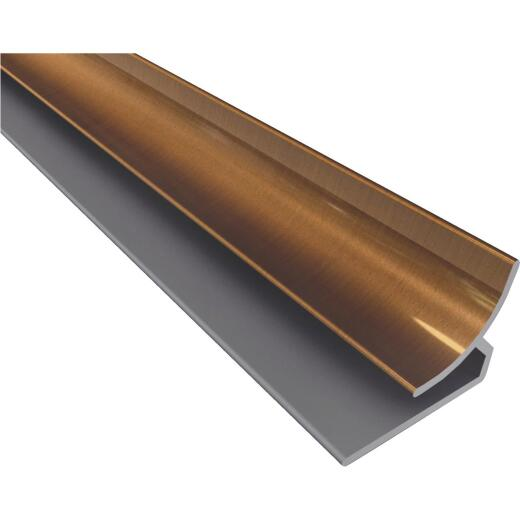 Fasade 18 In. Thermoplastic Inside Corner Backsplash Trim, Oil-Rubbed Bronze