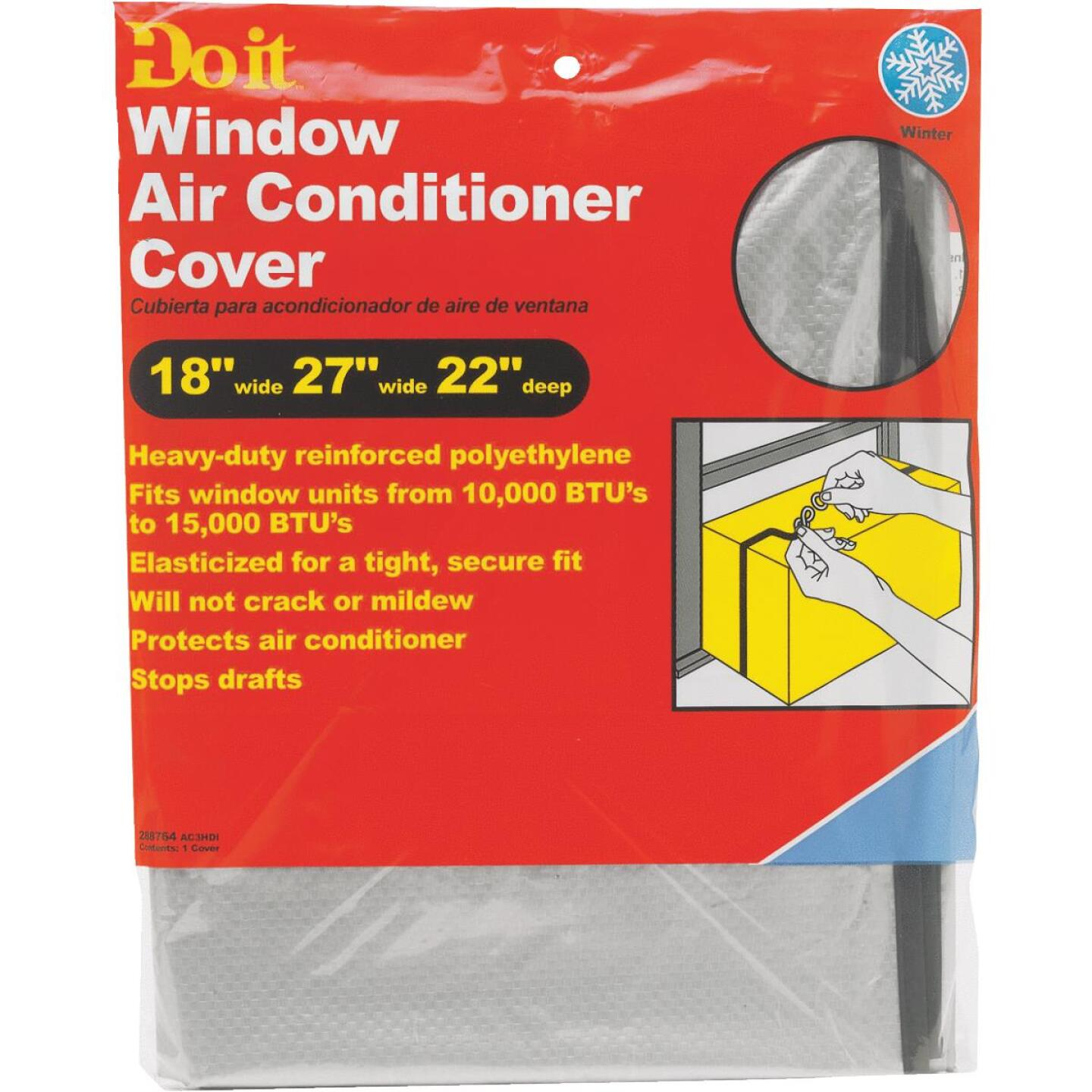 "Do it 18"" x 27"" x 22"" 6 mil Rectangle Air Conditioner Cover Image 2"