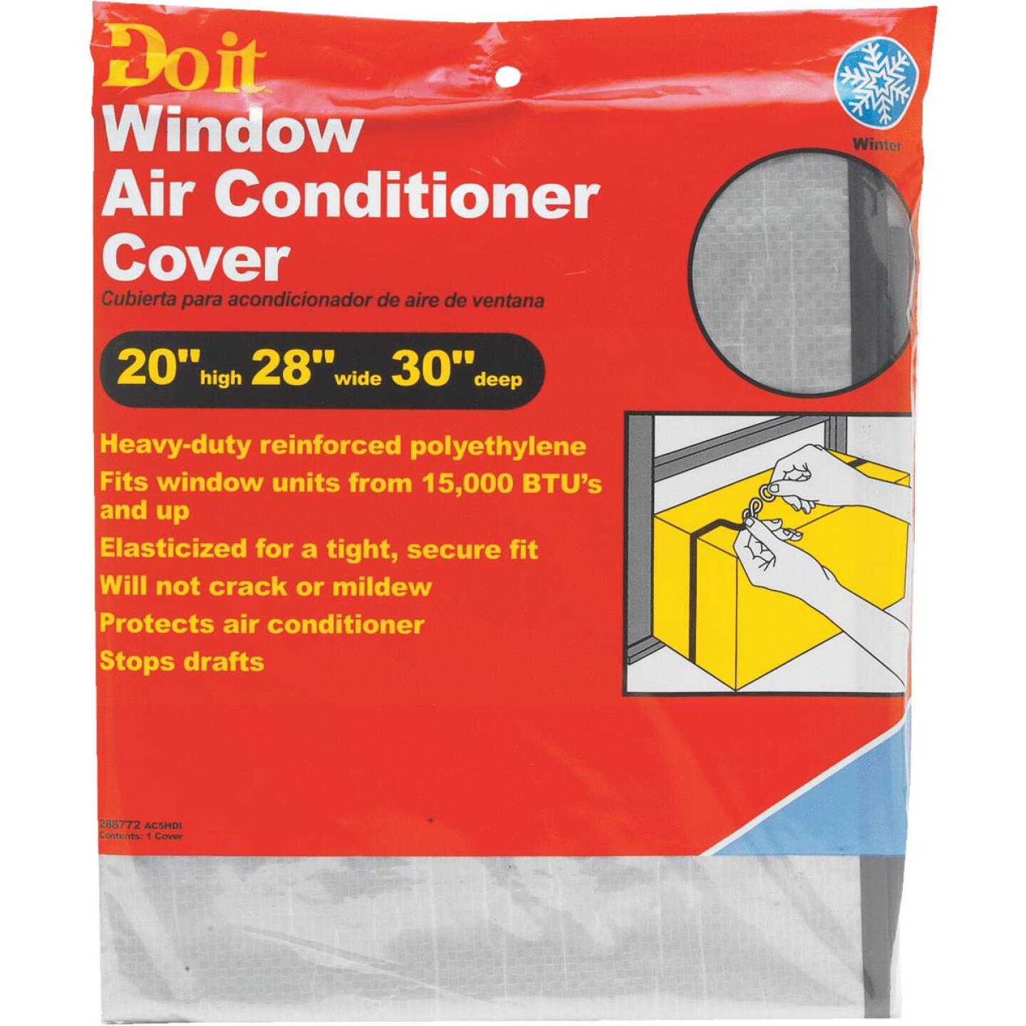 "Do it 20"" x 28"" x 30"" 6 mil Rectangle Air Conditioner Cover Image 2"
