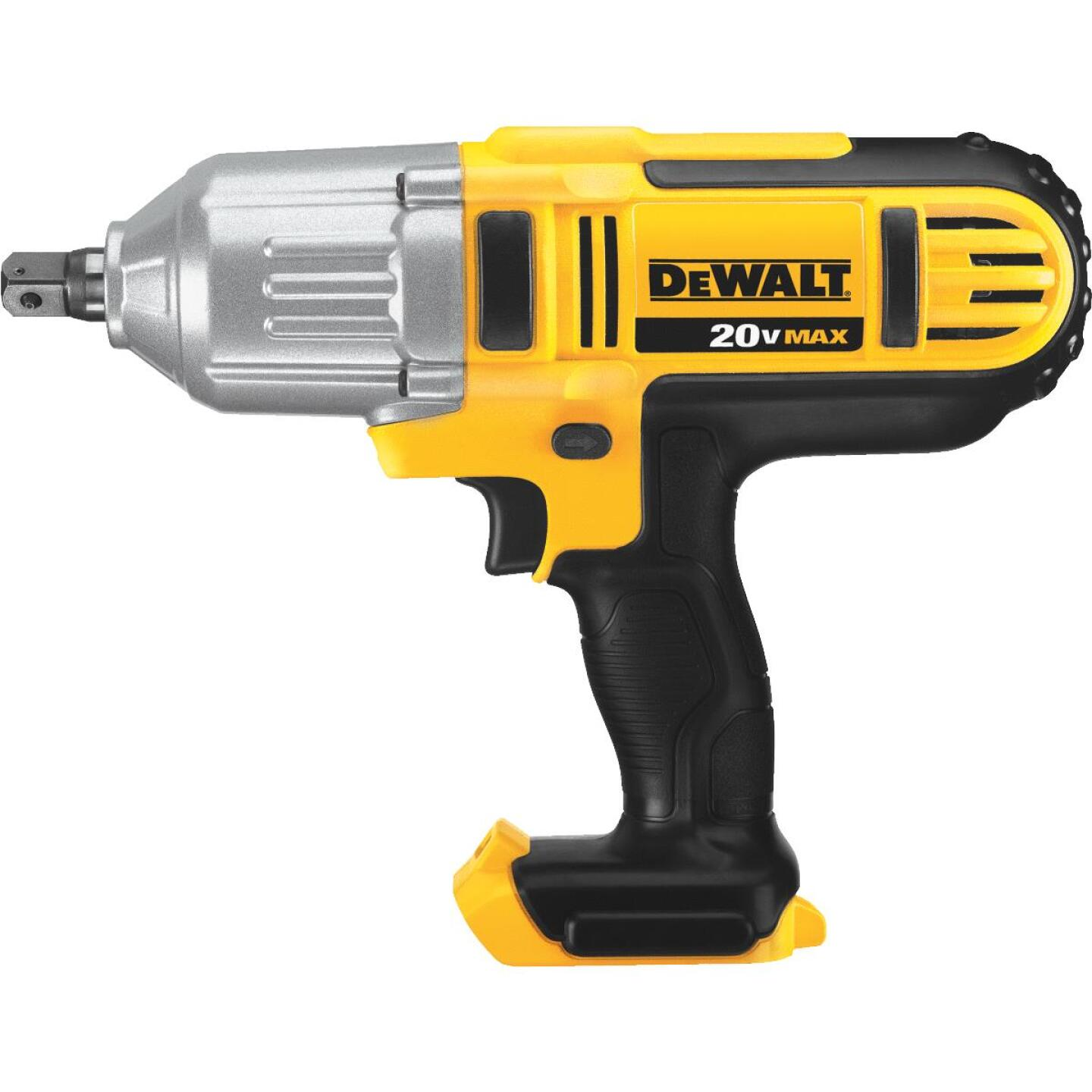 DeWalt 20 Volt MAX Lithium-Ion 1/2 In. High Torque Cordless Impact Wrench (Bare Tool) Image 1