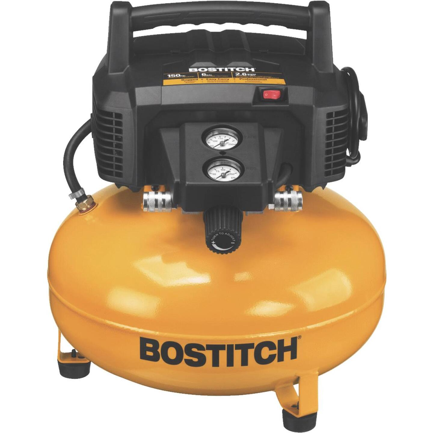 Bostitch 6 Gal. Portable 150 psi Pancake Air Compressor Image 1