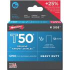 Arrow T50 Heavy-Duty Staple, 1/2 In. (1250-Pack) Image 1