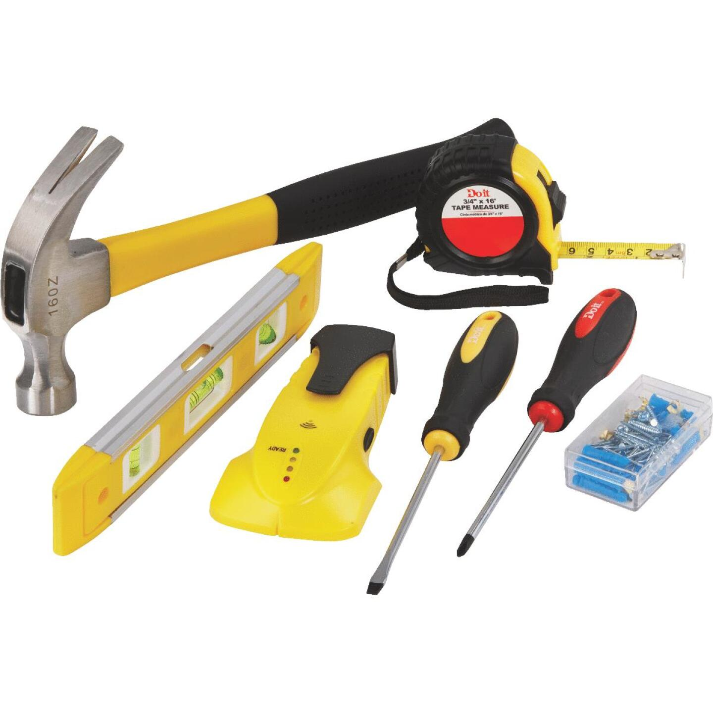 Do it Home Tool Set with Hanging Hardware (7-Piece) Image 1