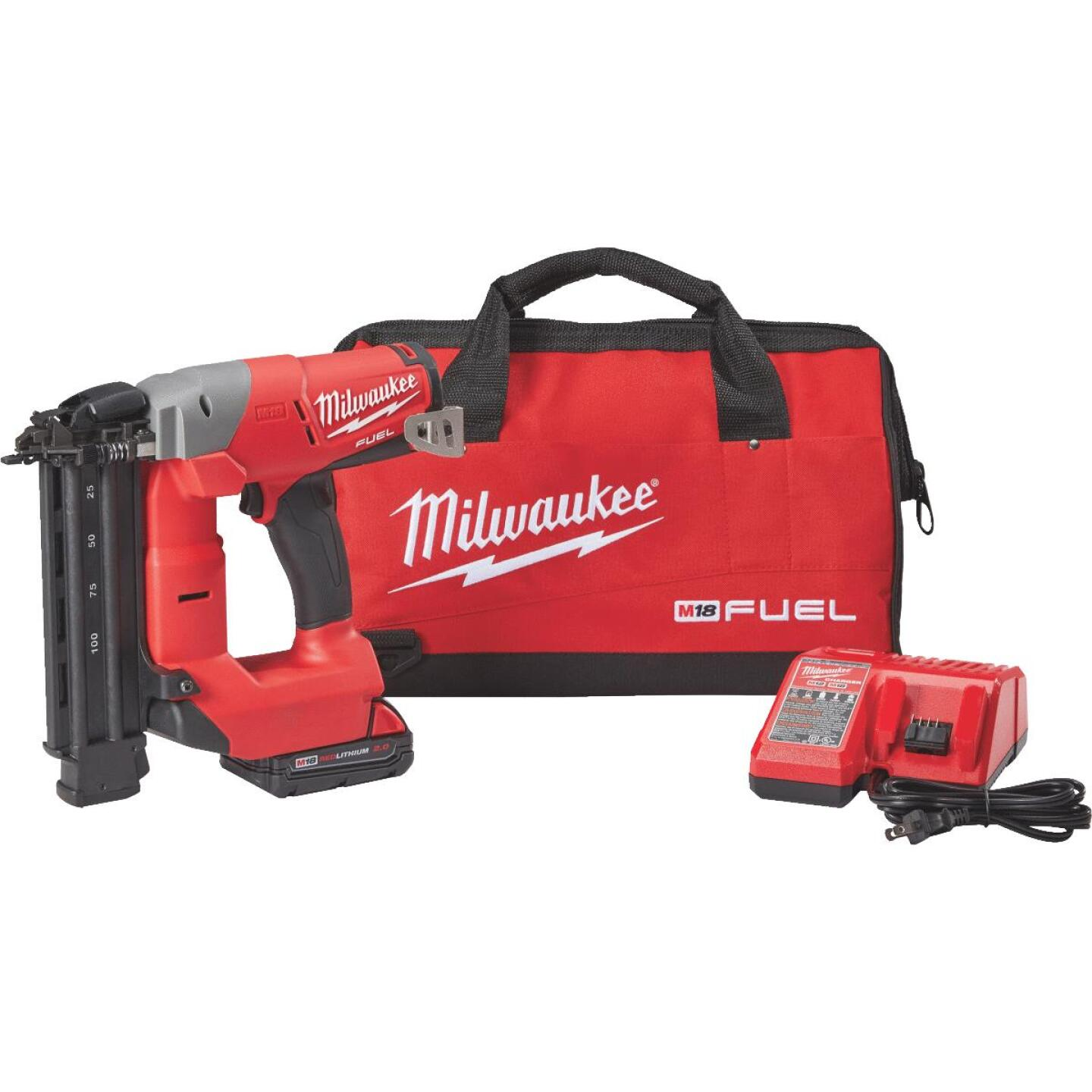Milwaukee M18 FUEL 18 Volt Lithium-Ion Brushless 18-Gauge 2-1/8 In. Cordless Brad Nailer Kit Image 1