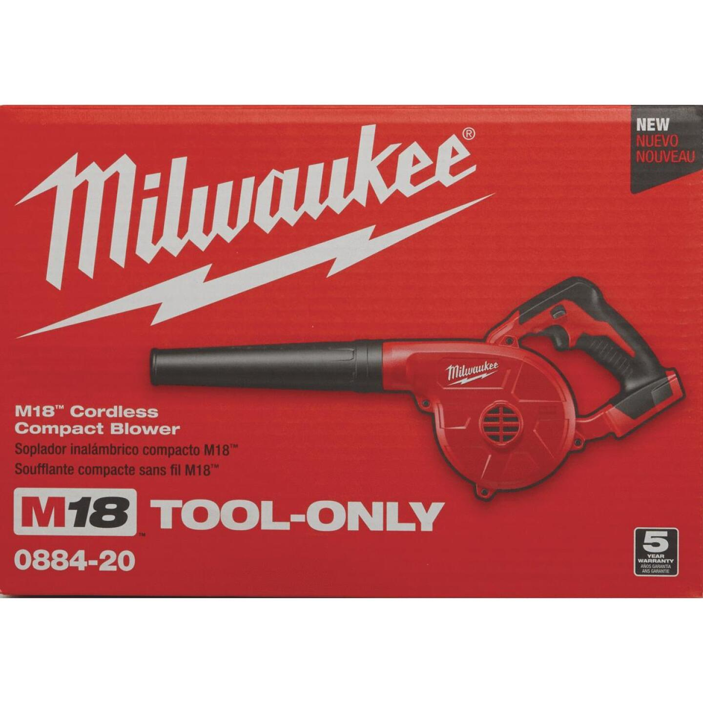 Milwaukee M18 160 MPH 18-Volt Compact Lithium-Ion Cordless Blower (Bare Tool) Image 7