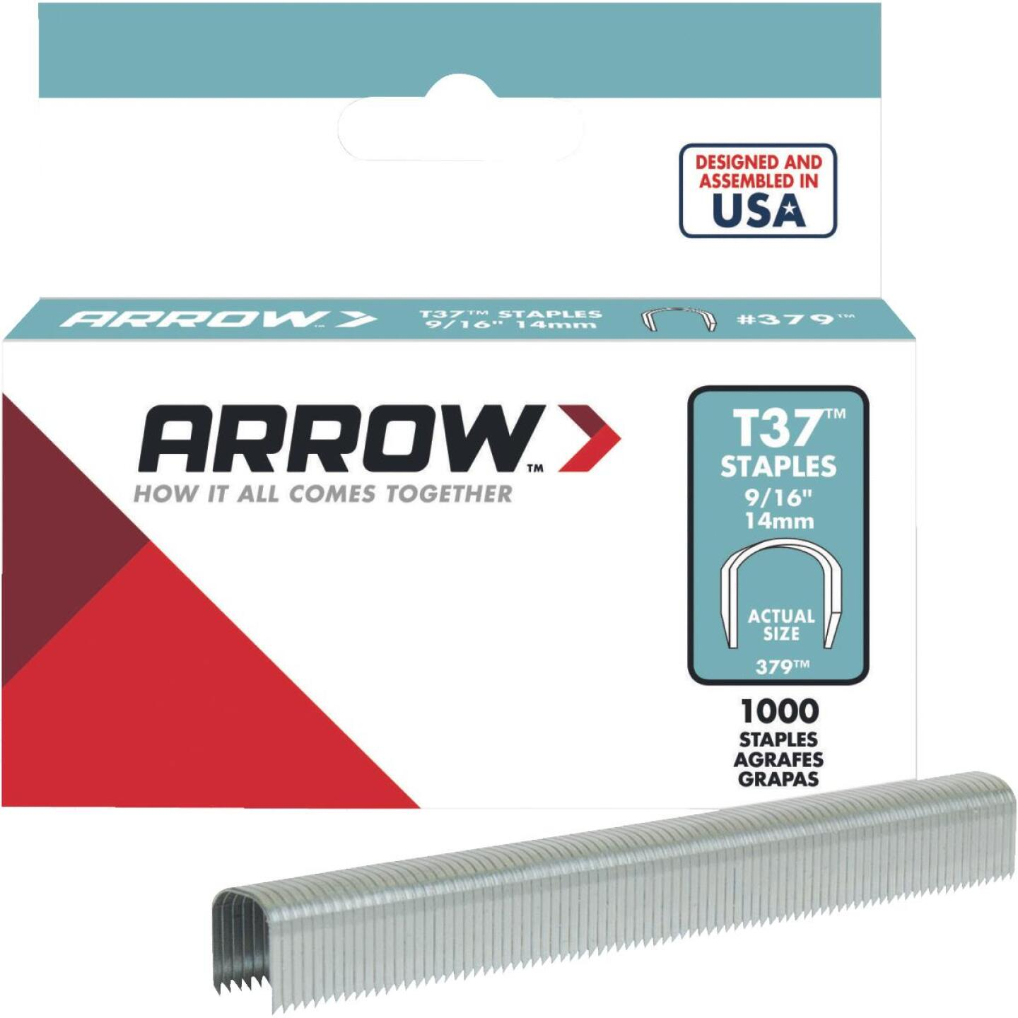 Arrow T37 Round Crown Cable Staple, 9/16 In. (1000-Pack) Image 1