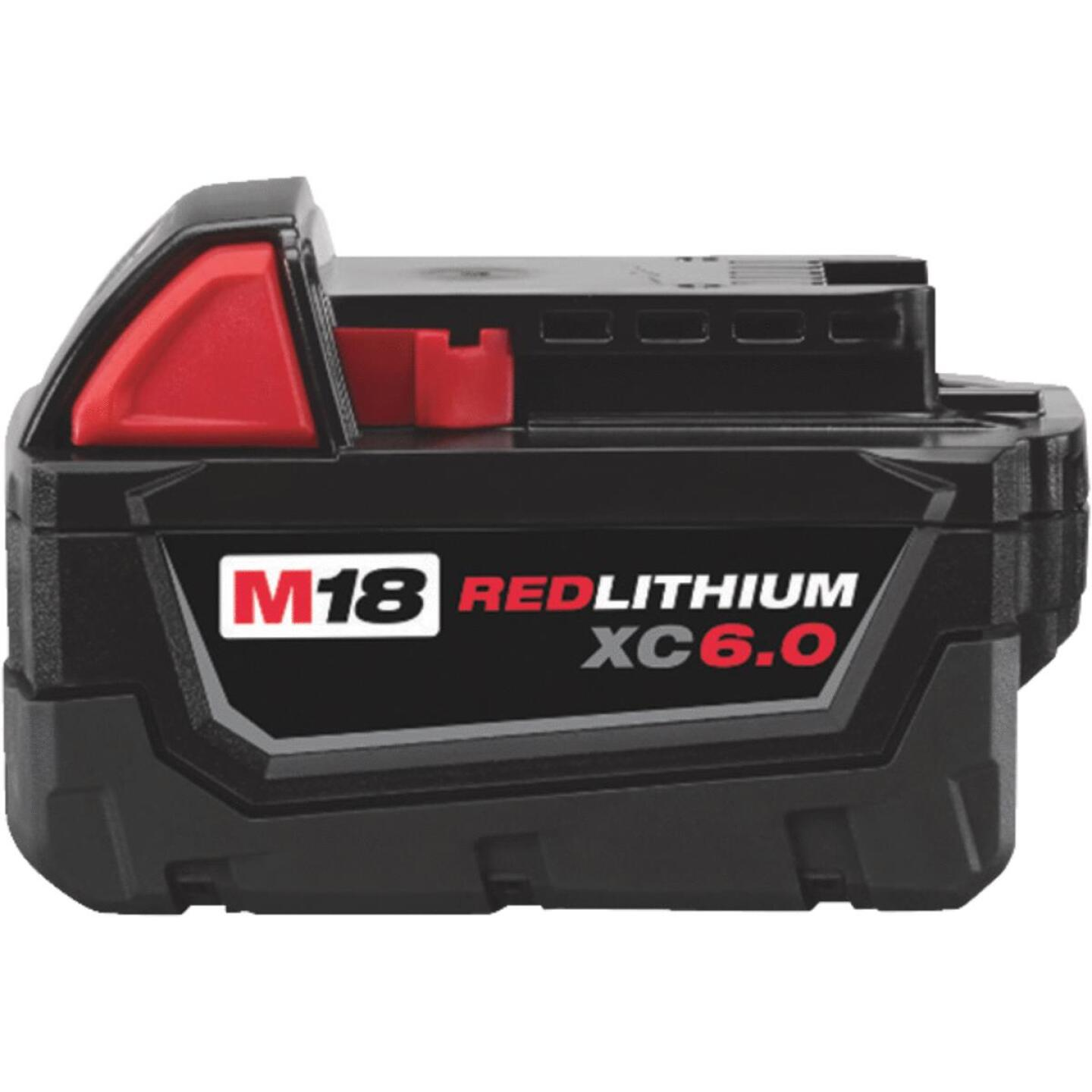Milwaukee M18 REDLITHIUM XC 18 Volt Lithium-Ion 6.0 Ah Extended Capacity Tool Battery Image 1