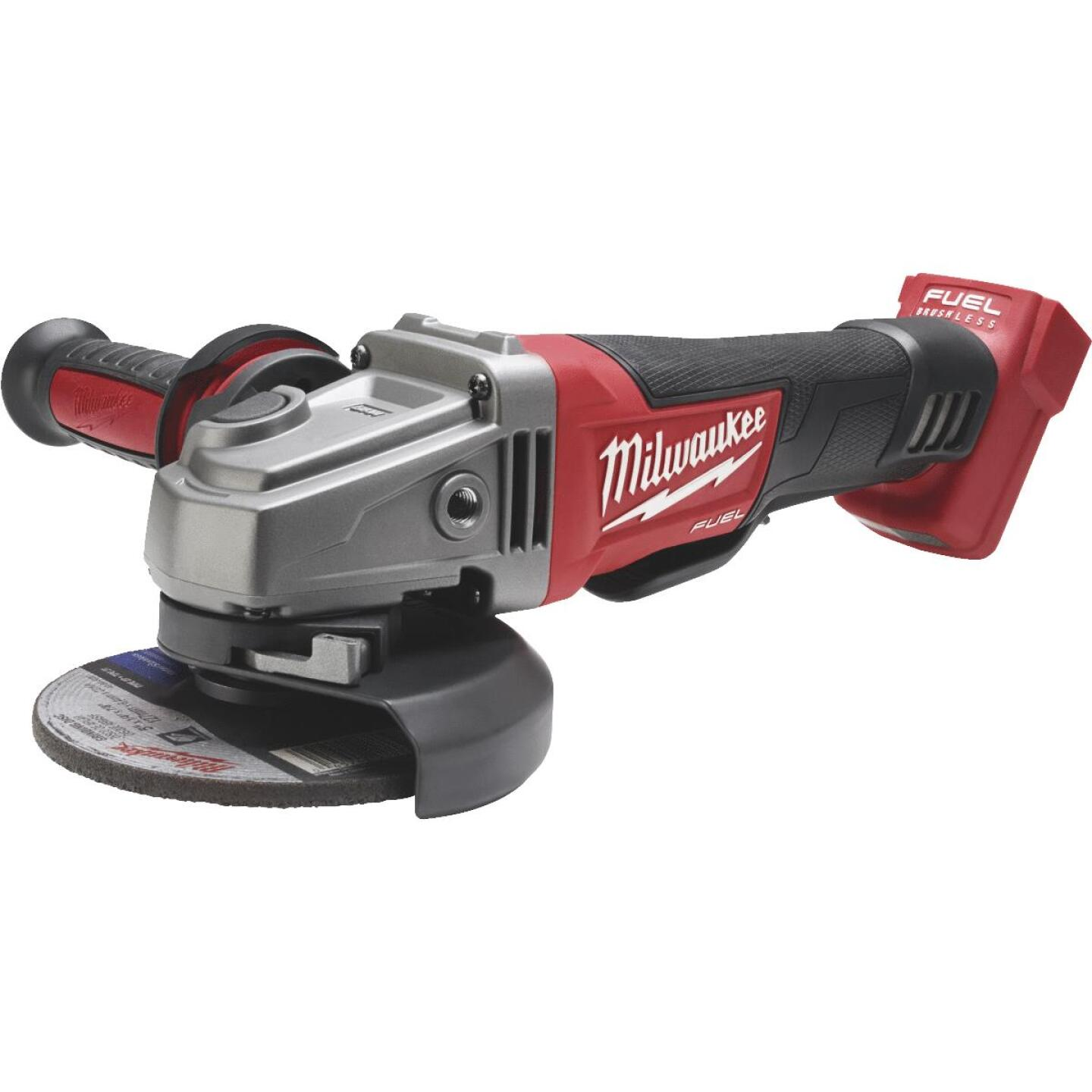 Milwaukee M18 FUEL 18 Volt Lithium-Ion Brushless 4-1/2 In. - 5 In. Cordless Angle Grinder, Paddle Switch No-Lock (Bare Tool) Image 1