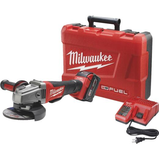 Milwaukee M18 FUEL 18-Volt Lithium-Ion Brushless 4-1/2 In. - 5 In. Angle Grinder Kit