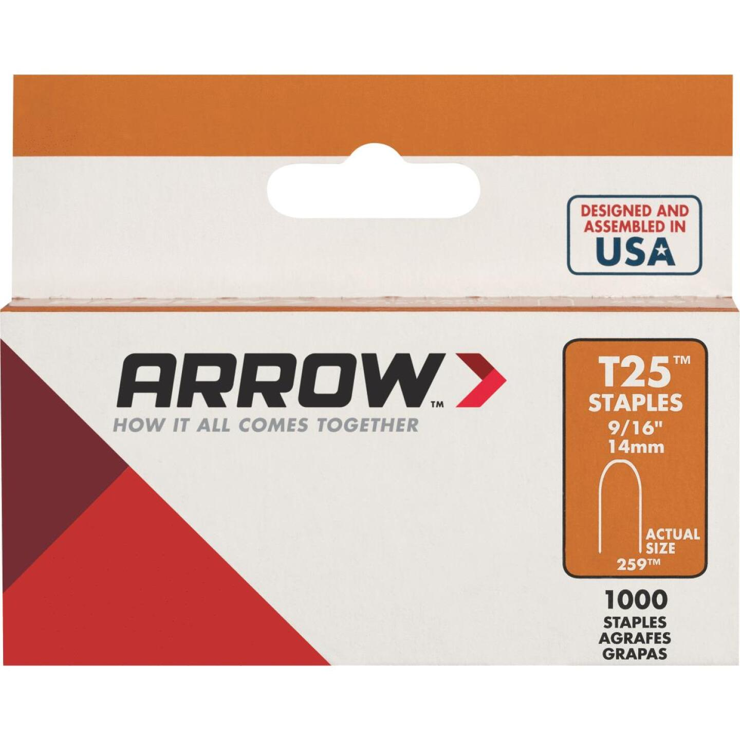 Arrow T25 Round Crown Cable Staple, 9/16 In. (1100-Pack) Image 1