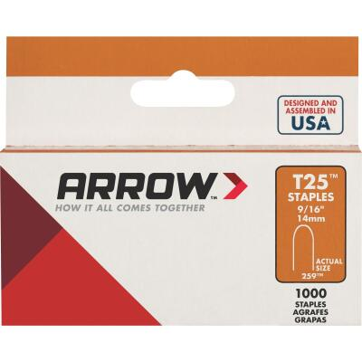 Arrow T25 Round Crown Cable Staple, 9/16 In. (1100-Pack)