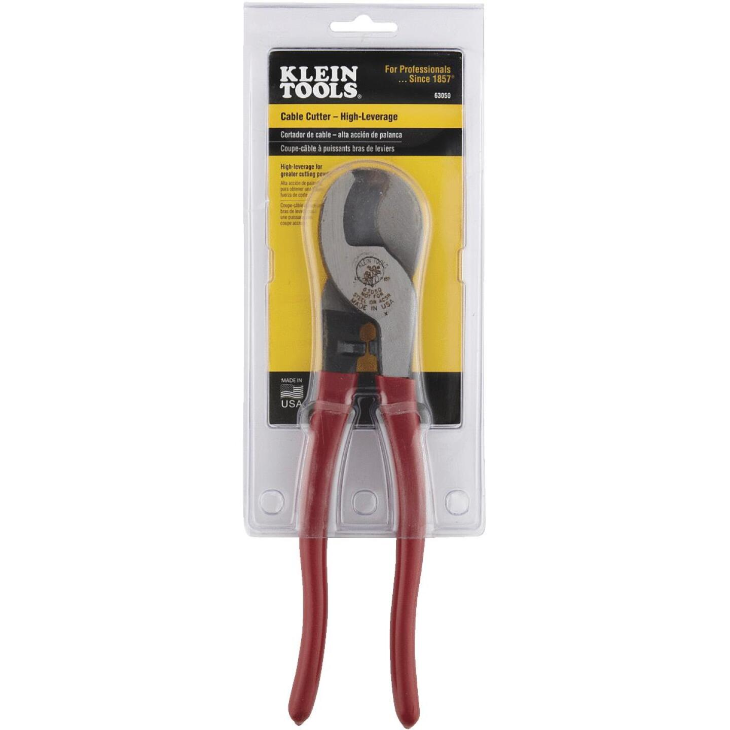 Klein 9-1/2 In. 4/0 AWG Aluminum & 2/0 AWG Copper Cable Cutter Image 2
