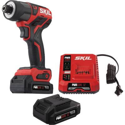 SKIL PWRCore 12 Volt Lithium-Ion Brushless 1/4 In. Hex Cordless Impact Driver