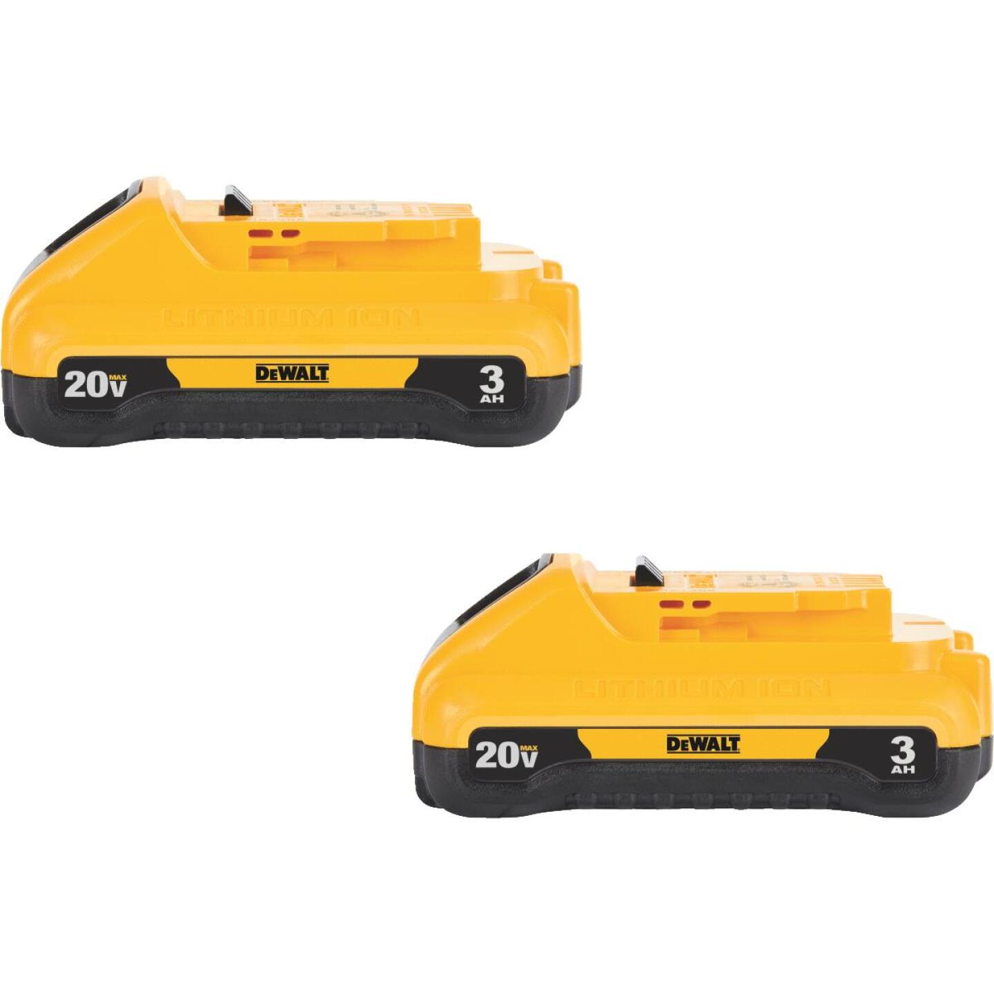 DeWalt 20 Volt MAX Lithium-Ion 3.0 Ah Compact Tool Battery (2-Pack) Image 1