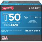 Arrow T50 Pro-Pack Heavy-Duty Staple, 1/4 In. (5000-Pack) Image 1