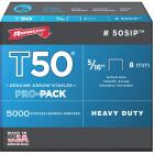 Arrow T50 Pro-Pack Heavy-Duty Staple, 5/16 In. (5000-Pack) Image 1