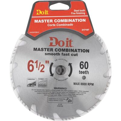 Do it Master Combination 6-1/2 In. 48-Tooth Crosscut/Rip Circular Saw Blade