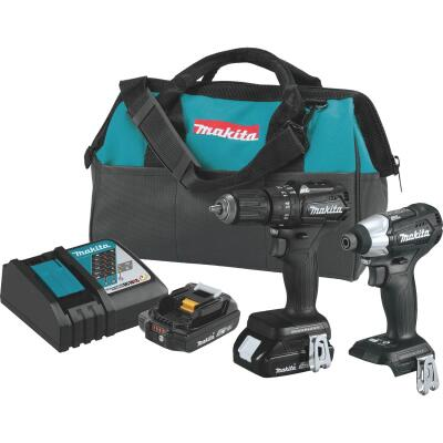 Makita 2-Tool 18V LXT Lithium-Ion Brushless Drill/Driver & Impact Driver Cordless Tool Combo Kit